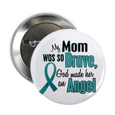 "Angel 1 TEAL (Mom) 2.25"" Button"