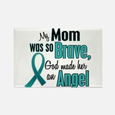 Angel 1 TEAL (Mom) Rectangle Magnet