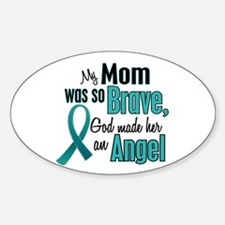 Angel 1 TEAL (Mom) Oval Decal