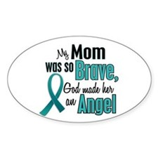 Angel 1 TEAL (Mom) Oval Stickers