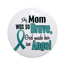 Angel 1 TEAL (Mom) Ornament (Round)