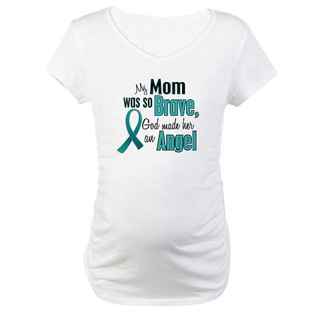 Angel 1 TEAL (Mom) Maternity T-Shirt
