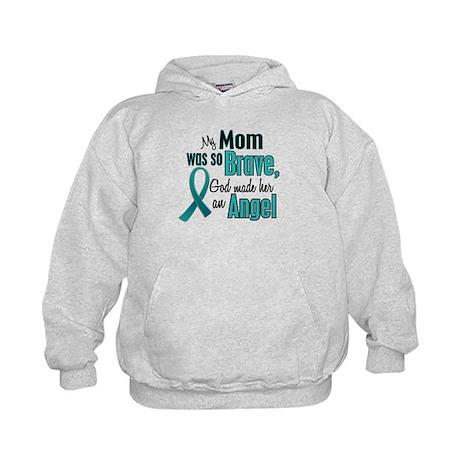 Angel 1 TEAL (Mom) Kids Hoodie