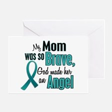 Angel 1 TEAL (Mom) Greeting Card