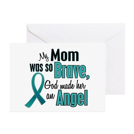 Angel 1 TEAL (Mom) Greeting Cards (Pk of 10)