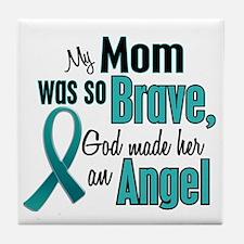 Angel 1 TEAL (Mom) Tile Coaster