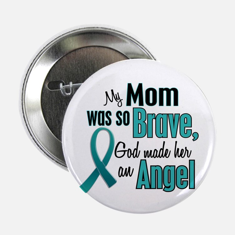 "Angel 1 TEAL (Mom) 2.25"" Button (10 pack)"