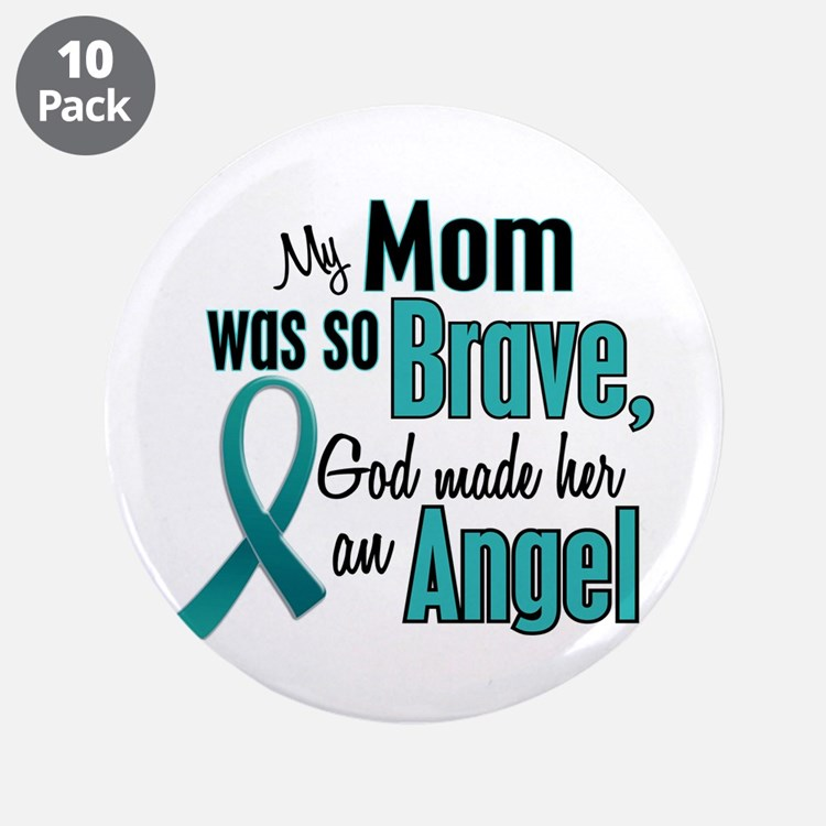 """Angel 1 TEAL (Mom) 3.5"""" Button (10 pack)"""