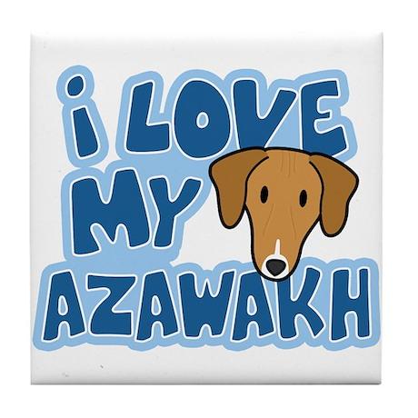 I Love my Azawakh Tile Coaster
