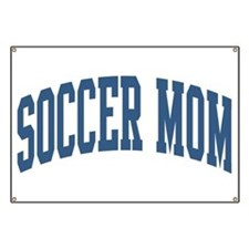 Soccer Mom Sports Nickname Collegiate Style Banner