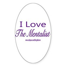 LOVE THE MENTALIST Oval Decal