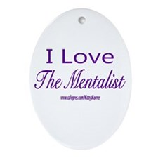 LOVE THE MENTALIST Oval Ornament