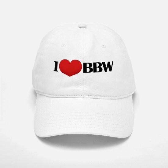 I HEART BBW Baseball Baseball Cap