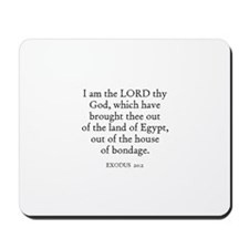 EXODUS  20:1 Mousepad