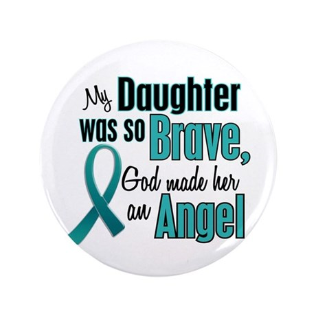 "Angel 1 TEAL (Daughter) 3.5"" Button"