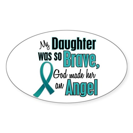 Angel 1 TEAL (Daughter) Oval Sticker