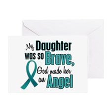 Angel 1 TEAL (Daughter) Greeting Card