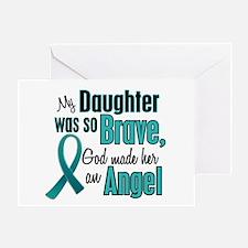Angel 1 TEAL (Daughter) Greeting Card