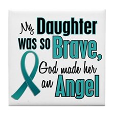Angel 1 TEAL (Daughter) Tile Coaster