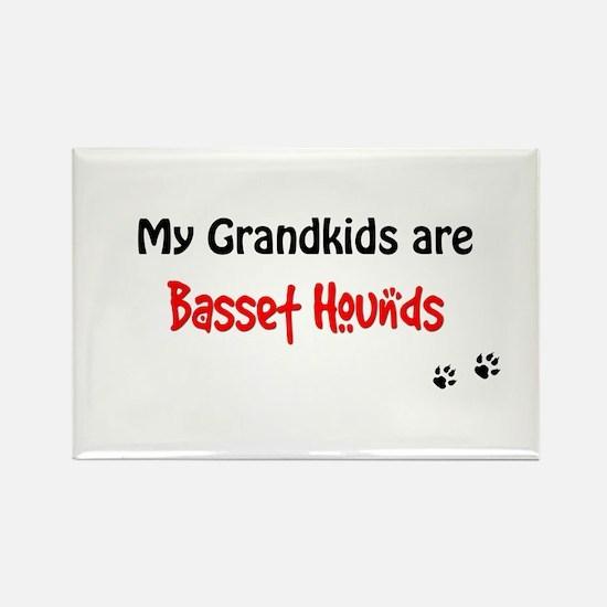 Basset Hound Grandkids Rectangle Magnet