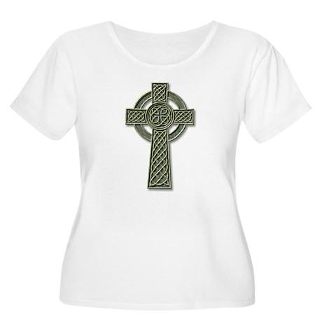 Cross 1 - stone Women's Plus Size Scoop Neck T-Shi