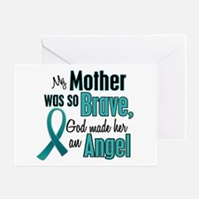 Angel 1 TEAL (Mother) Greeting Card