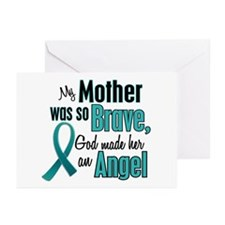 Angel 1 TEAL (Mother) Greeting Cards (Pk of 20)