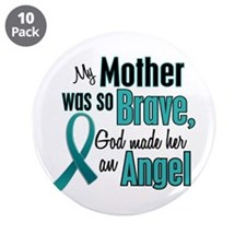 """Angel 1 TEAL (Mother) 3.5"""" Button (10 pack)"""