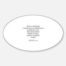 EXODUS 21:32 Oval Decal