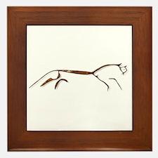 Uffington Horse - rust Framed Tile