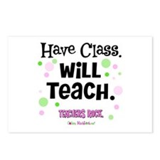 Have Class Will Teach Postcards (Package of 8)