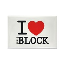 I <3 The Block Rectangle Magnet (10 pack)