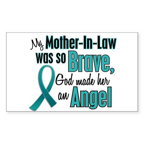 Angel 1 TEAL (Mother-In-Law) Rectangle Sticker
