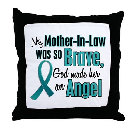 Angel 1 TEAL (Mother-In-Law) Throw Pillow