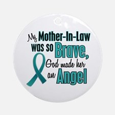 Angel 1 TEAL (Mother-In-Law) Ornament (Round)
