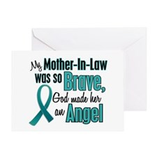 Angel 1 TEAL (Mother-In-Law) Greeting Card