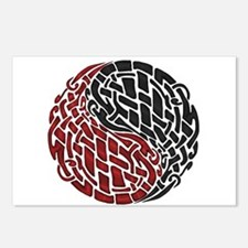 Celtic Knotwork Yin Yang Postcards (Package of 8)