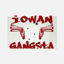 Iowan Gangsta Rectangle Magnet