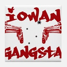 Iowan Gangsta Tile Coaster