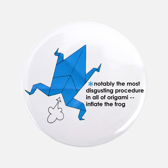 """Origami Frog 3.5"""" Button"""