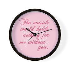 Twilight Valentine Wall Clock