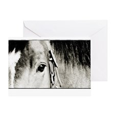Horse Eye Art Greeting Card