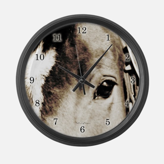 Horse Eye Art Large Wall Clock