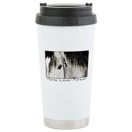 Horse Eye Art Stainless Steel Travel Mug