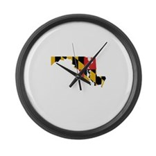 Maryland Stripe Custom Design Large Wall Clock
