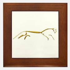 Uffington Horse - gold Framed Tile