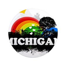 """Sweet Fruity Michigan 3.5"""" Button"""