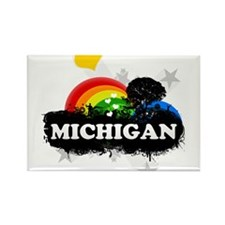 Sweet Fruity Michigan Rectangle Magnet