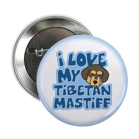 I Love my Tibetan Mastiff Button (Cartoon)