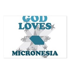 God Loves Micronesia Postcards (Package of 8)